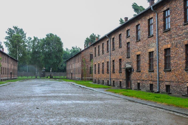 Auschwitz, il peggio che è accaduto mai ad umanità immagine stock