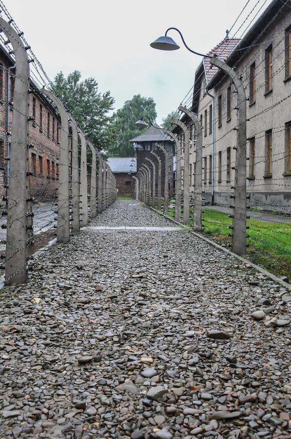 Auschwitz, il peggio che è accaduto mai ad umanità immagini stock