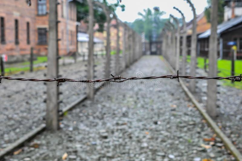 Auschwitz, il peggio che è accaduto mai ad umanità fotografia stock