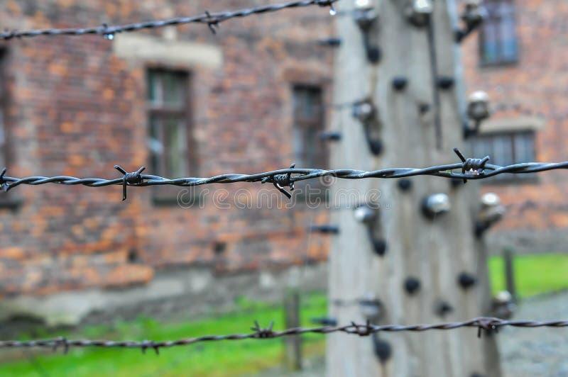 Auschwitz, il peggio che è accaduto mai ad umanità immagini stock libere da diritti