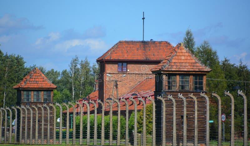 Auschwitz koncentracyjnego obozu mirador obraz stock