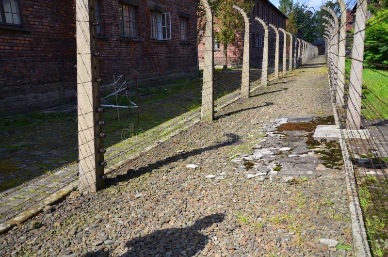 Auschwitz koncentracyjnego obozu ogrodzenia fotografia stock