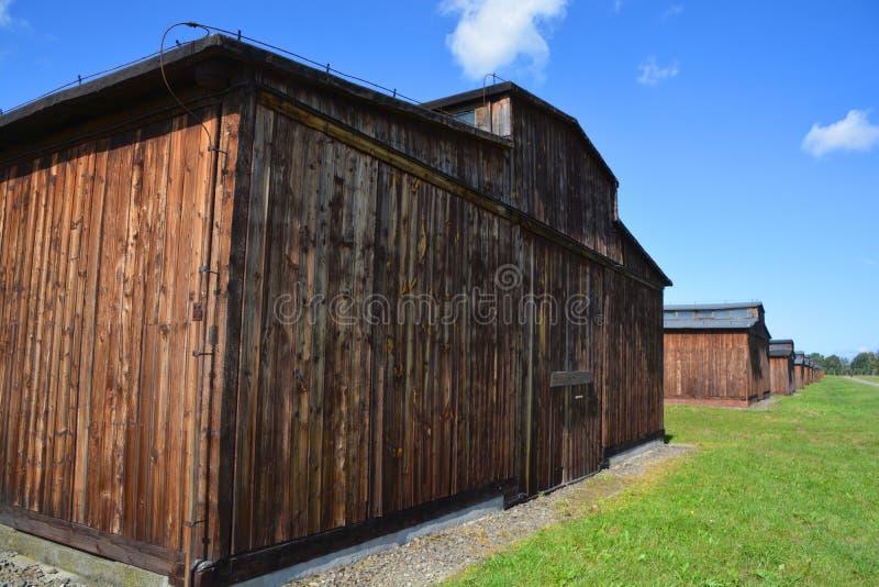 Auschwitz koncentracyjny obóz koszaruje zdjęcie stock