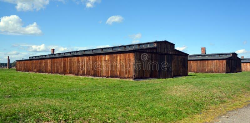 Auschwitz koncentracyjny obóz koszaruje zdjęcia stock