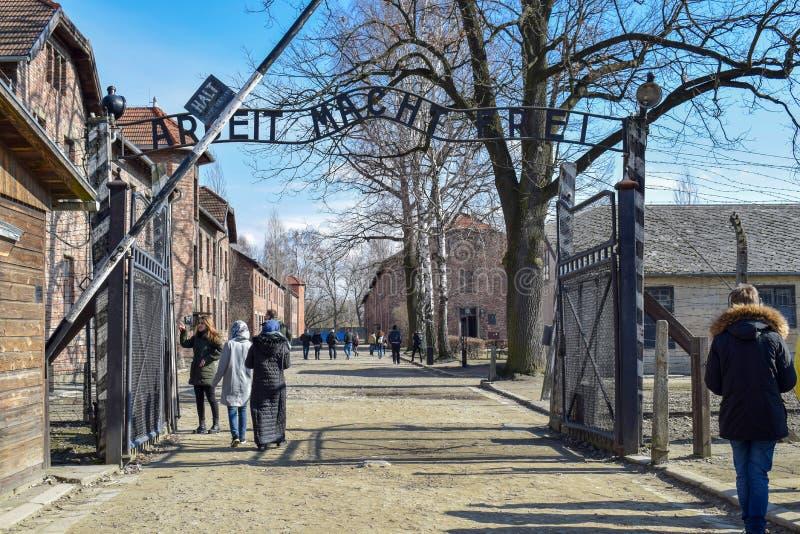 auschwitz koncentracyjny obóz w Oswiecim obraz stock