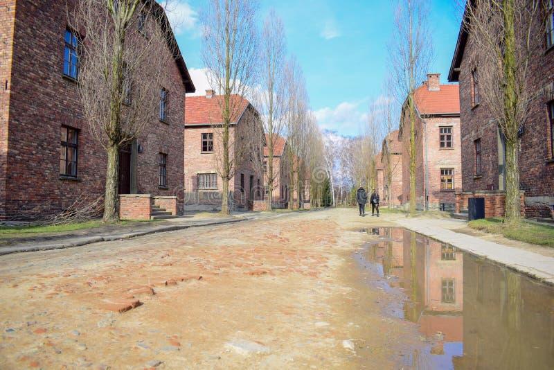 auschwitz koncentracyjny obóz w Oswiecim zdjęcia stock