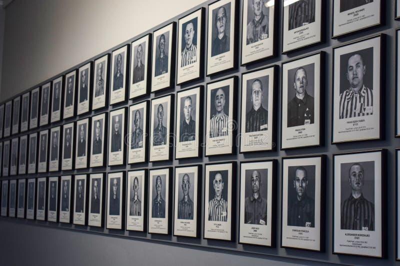 auschwitz koncentracyjny obóz w Oswiecim fotografia royalty free