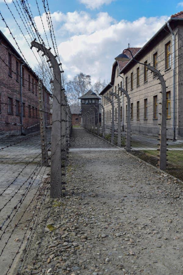 auschwitz koncentracyjny obóz w Oswiecim obrazy royalty free
