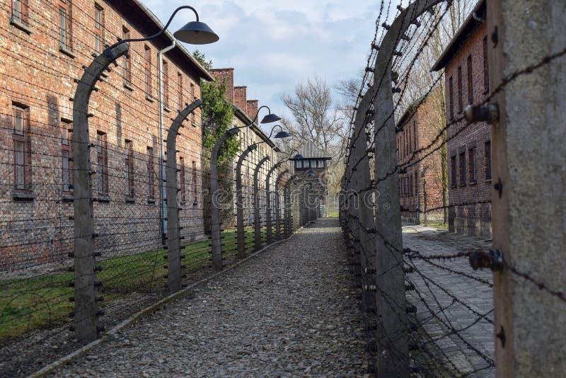 auschwitz koncentracyjny obóz w Oswiecim zdjęcie royalty free