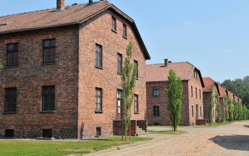 Auschwitz-Konzentrationslager stockbilder
