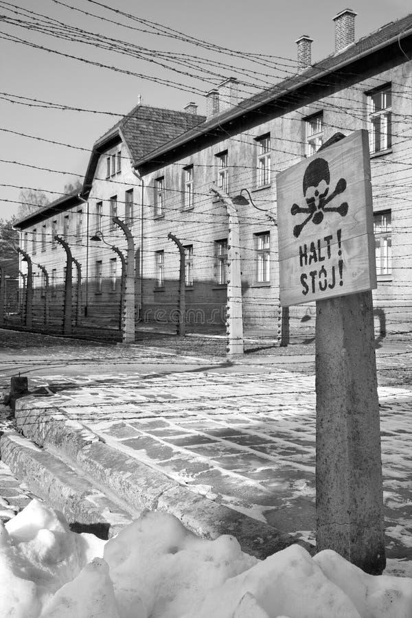 Auschwitz-Konzentrationslager - Polen stockfoto