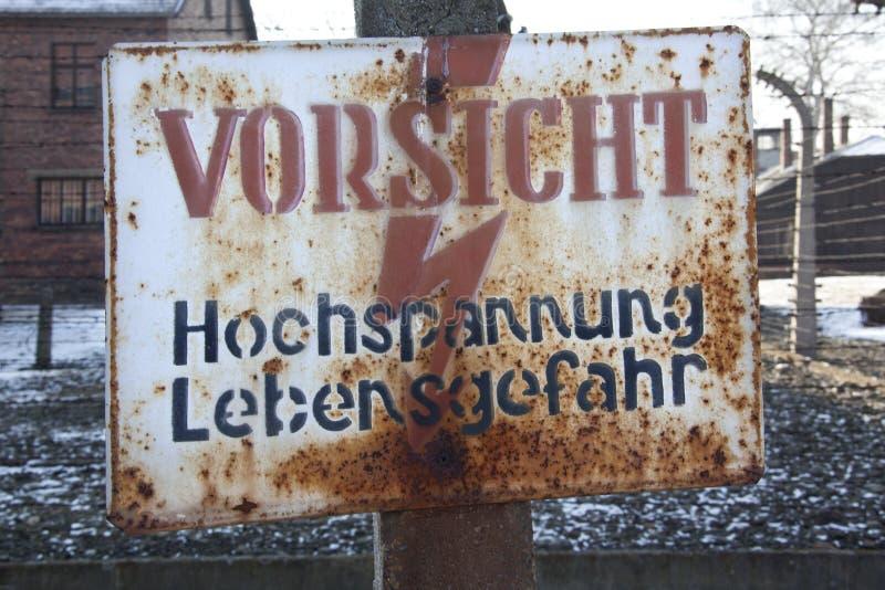 Auschwitz-Konzentrationslager - Polen stockfotografie