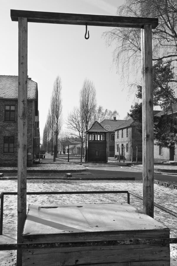 Auschwitz-Konzentrationslager - Polen lizenzfreie stockfotografie