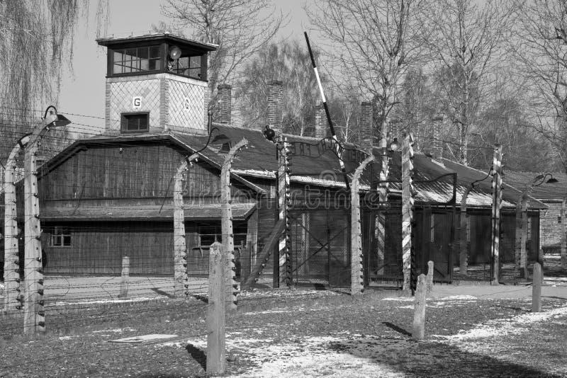 Auschwitz-Konzentrationslager - Polen lizenzfreies stockfoto