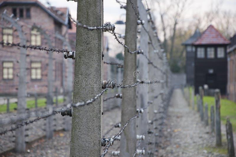 Auschwitz-Konzentrationslager in Polen stockbilder