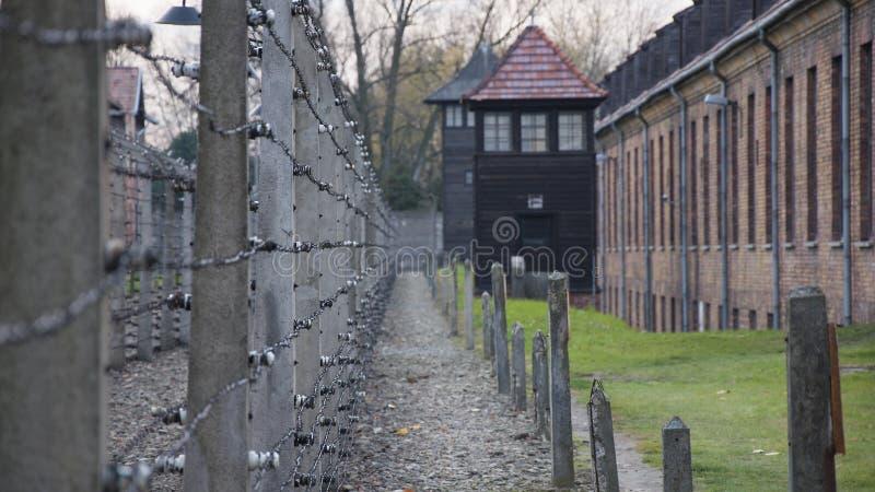 Auschwitz-Konzentrationslager war ein Netz der Konzentration und Ausrottunglager bauten auf und funktionierten durch das Drittes  lizenzfreies stockbild