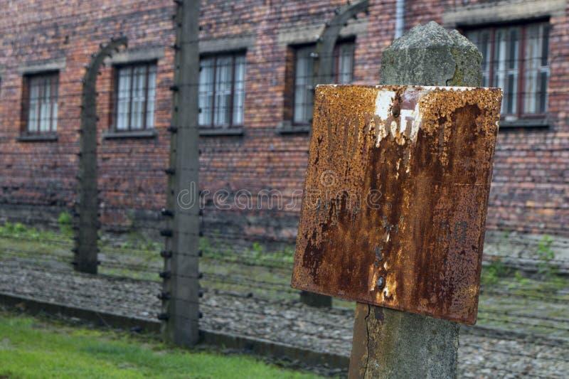 auschwitz lägerkoncentration poland arkivbilder