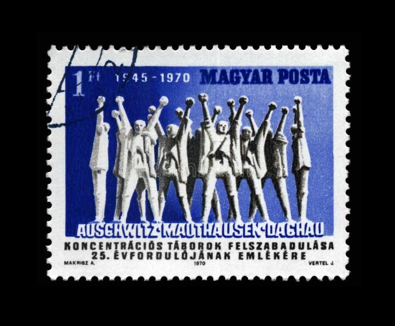 Auschwitz, Mauthausen, Dachau-bevrijding royalty-vrije stock foto's