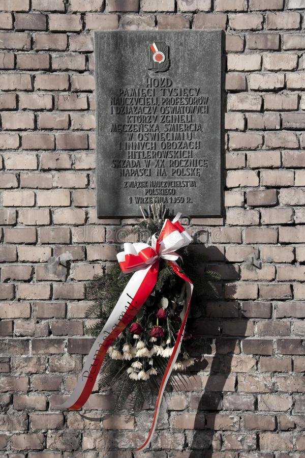 Auschwitz-NaziKonzentrationslager - Polen stockfotografie