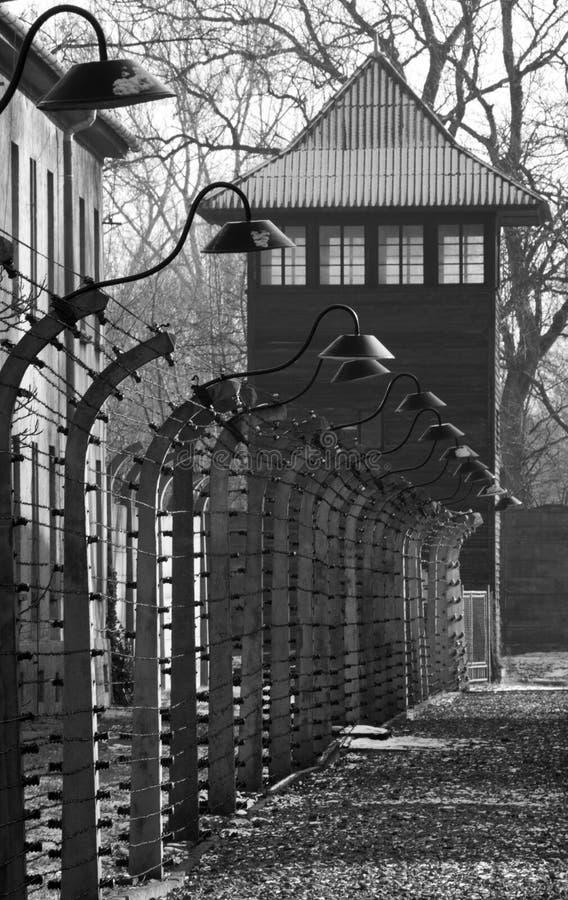 Auschwitz-NaziKonzentrationslager - Polen stockfotos