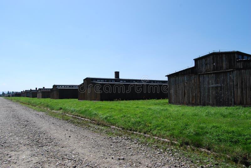 Auschwitz - part BIIa. Concentration camp Auschwitz - Birkenau in Poland royalty free stock photography