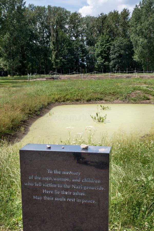 AUSCHWITZ, POLÔNIA - EM JULHO DE 2017 Campo de concentração de Auschwitz Birkenau, imagem de stock royalty free