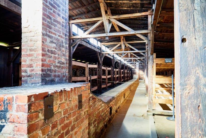 AUSCHWITZ, Pol?nia - 30 de setembro de 2018: O campo de concentra??o o mais grande Auschwitz em Europa durante a segunda guerra m imagem de stock