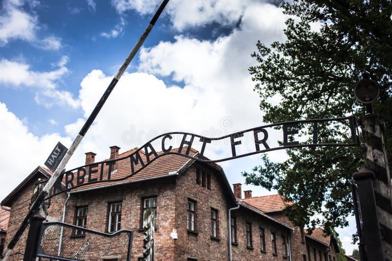 AUSCHWITZ, POLAND - July 11, 2017 ; Museum Auschwitz - Holocaust royalty free stock photos
