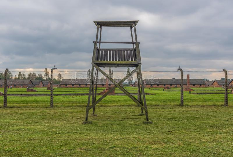 The extermination camp of Auschwitz, Poland. Auschwitz, Poland - the most deadliest among the extermination camps built during the holocaust, Auschwitz still royalty free stock image