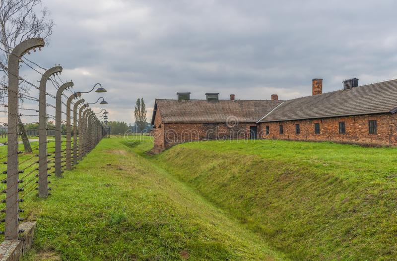 The extermination camp of Auschwitz, Poland. Auschwitz, Poland - the most deadliest among the extermination camps built during the holocaust, Auschwitz still stock images
