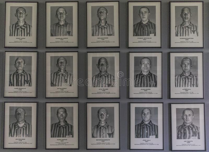 The extermination camp of Auschwitz, Poland. Auschwitz, Poland - the most deadliest among the extermination camps built during the holocaust, Auschwitz still stock photography