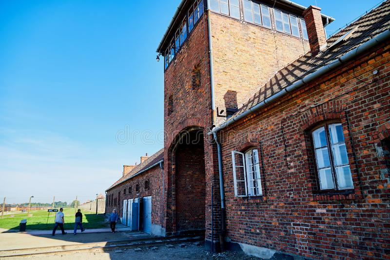 AUSCHWITZ, Poland - September 30, 2018: The biggest concentration camp Birkenau in Europe during World War II stock photos