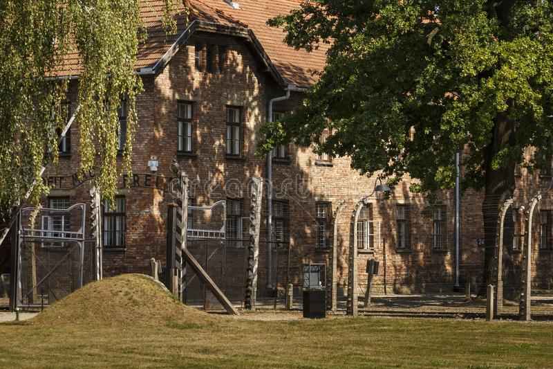 Auschwitz, Polen royalty-vrije stock fotografie