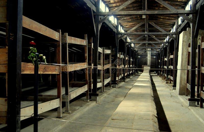 Auschwitz, Polen: De Barakken van de gevangene stock foto's