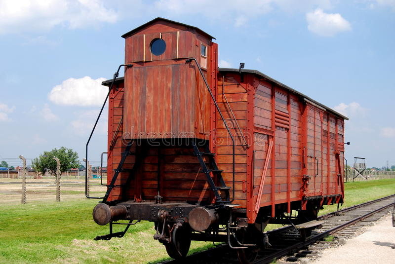 Auschwitz, Polen: De Trein van het vervoer royalty-vrije stock afbeelding