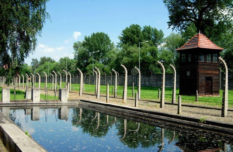Auschwitz, Polen: Nazi Zwembad stock afbeelding