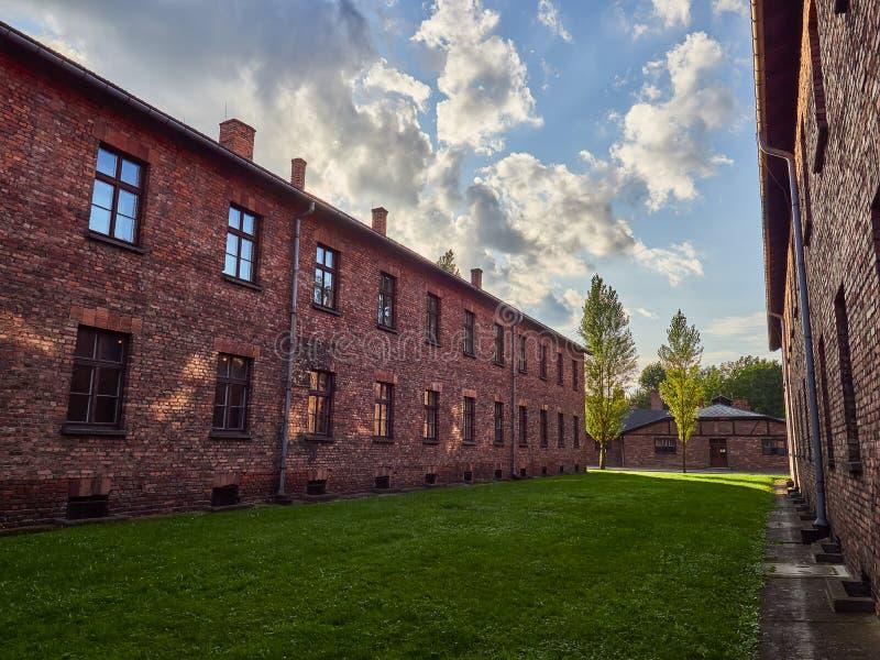 AUSCHWITZ, POLOGNE - 2 SEPTEMBRE 2017 Camp de concentration nazi Auschwitz I, Auschwitz, Pologne photographie stock libre de droits