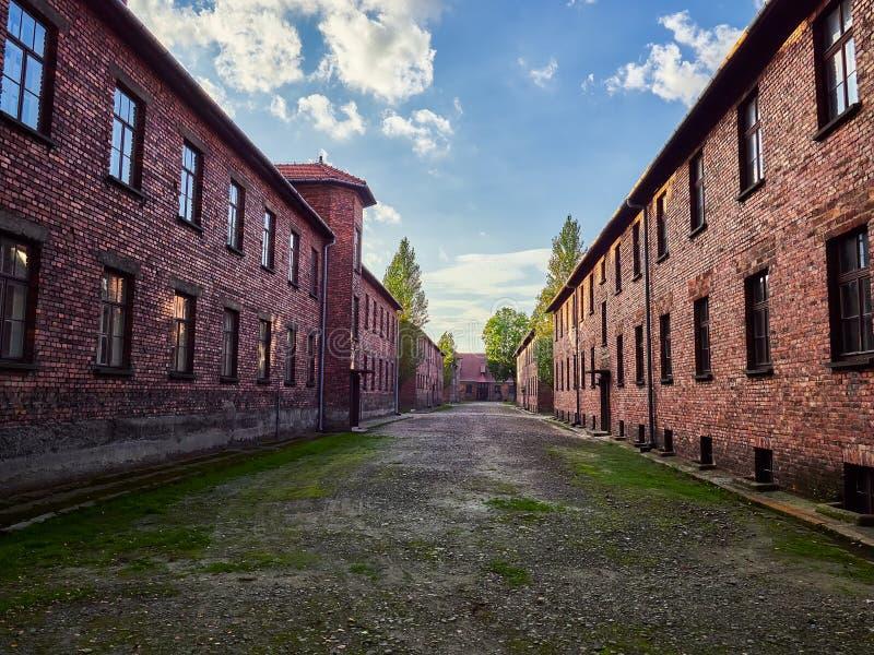 AUSCHWITZ, POLOGNE - 2 SEPTEMBRE 2017 Camp de concentration nazi Auschwitz I, Auschwitz, Pologne photo libre de droits
