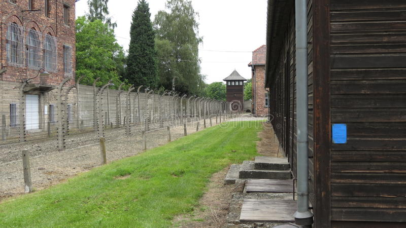 Auschwitz. Scenes from the concentration and extermination camps at Auschwitz in Poland stock photography