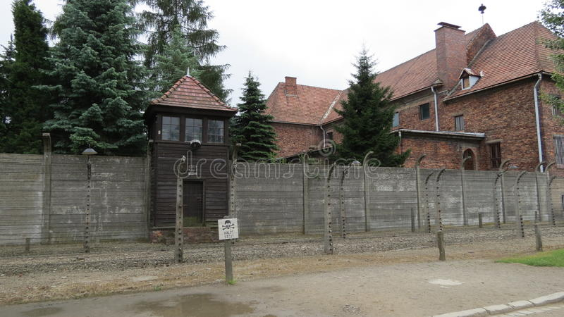 Auschwitz. Scenes from the concentration and extermination camps at Auschwitz in Poland stock photo