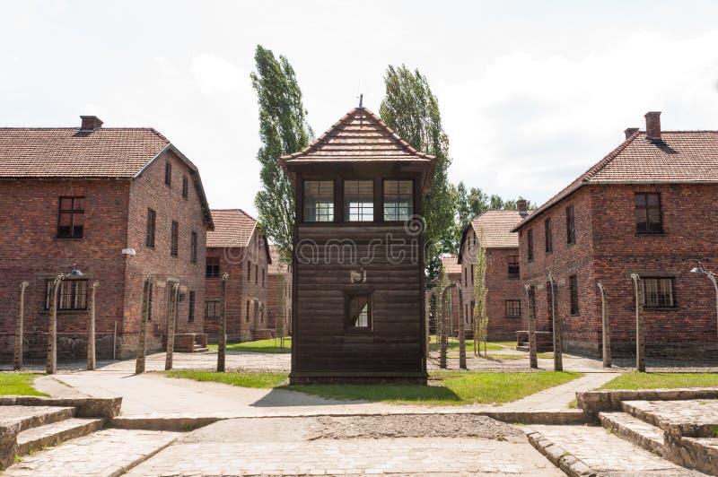 Auschwitz vakt House royaltyfri bild