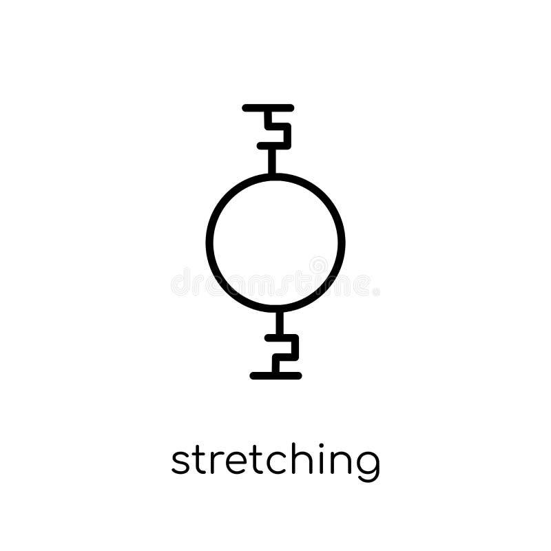 Ausdehnen der Ikone des lochenden Balls Modischer moderner flacher linearer Vektor vektor abbildung