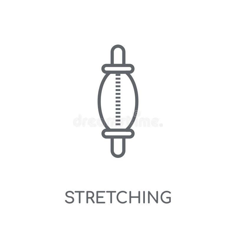 Ausdehnen der linearen Ikone des lochenden Balls Modernes Entwurf Ausdehnen vektor abbildung