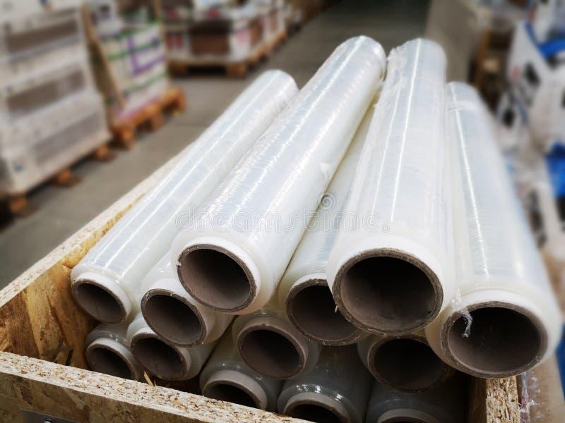 Ausdehnungsfolie für packingstretch Folie für das Verpacken lizenzfreies stockbild