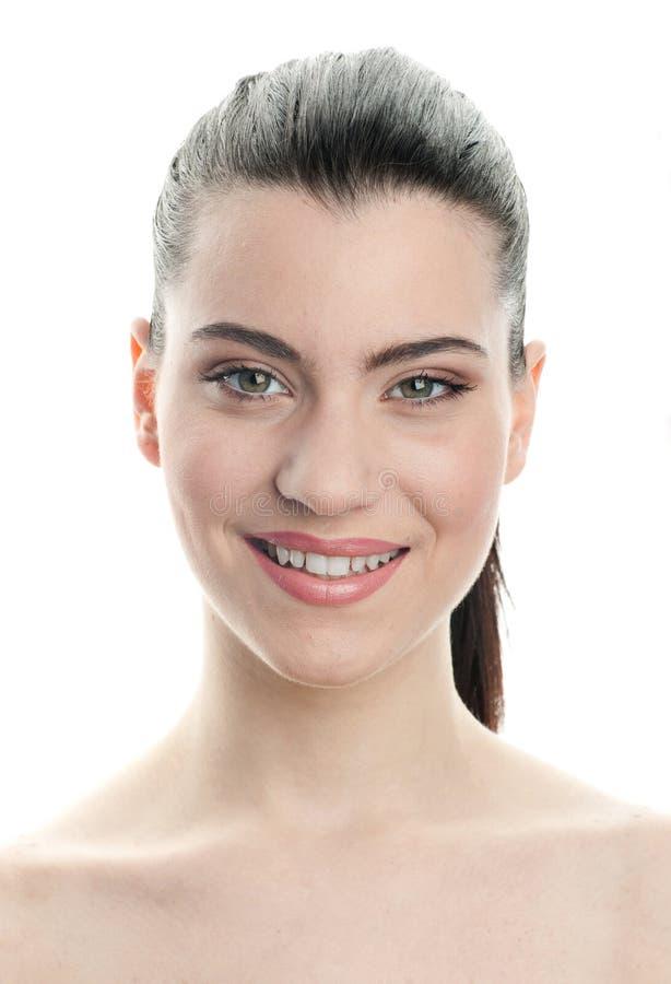 Ausdruck der jungen Frau stockfoto