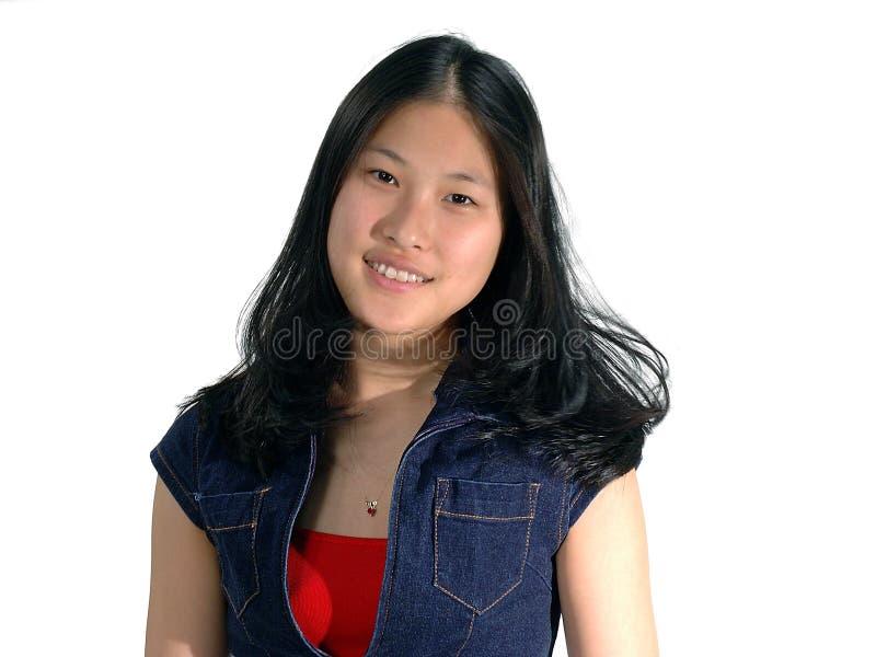 Ausdruck-lächelndes Mädchen stockbilder