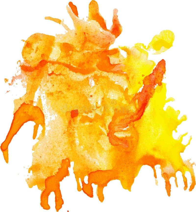 Ausdrucksvoller abstrakter Aquarellfleck stock abbildung