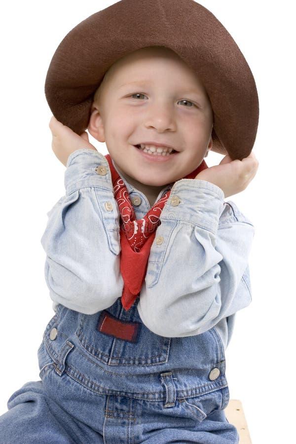 Ausdrucksvoller kleiner Junge stockfoto