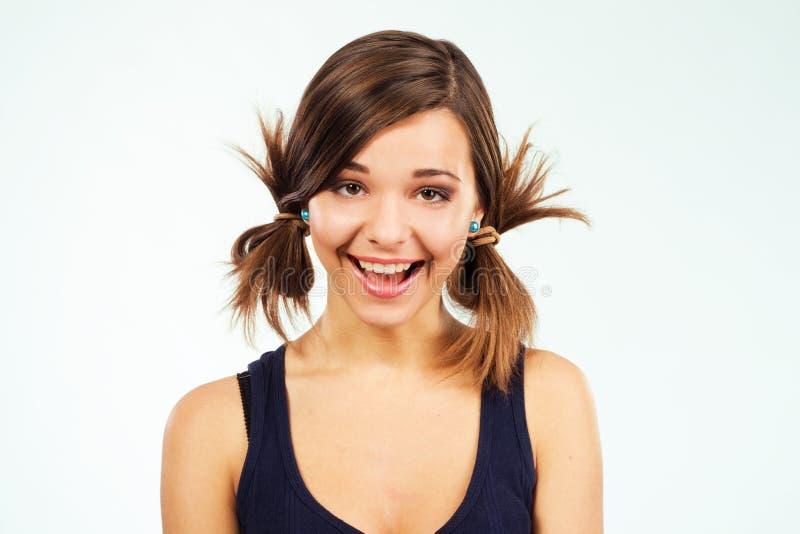 Ausdrucksvolles glückliches Mädchen lizenzfreie stockfotos