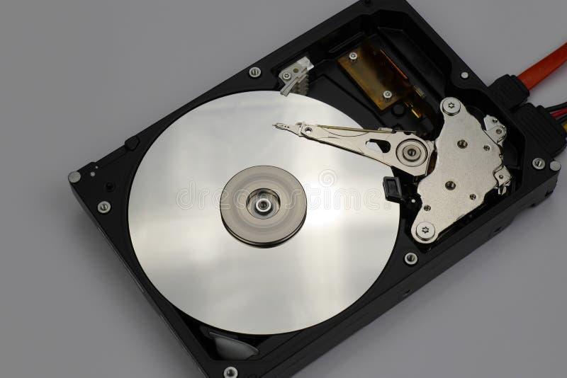 Auseinandergebautes Festplattenlaufwerkdetail lizenzfreies stockbild
